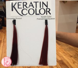 damaged hair coloured with competitor's product vs Keratin Colour