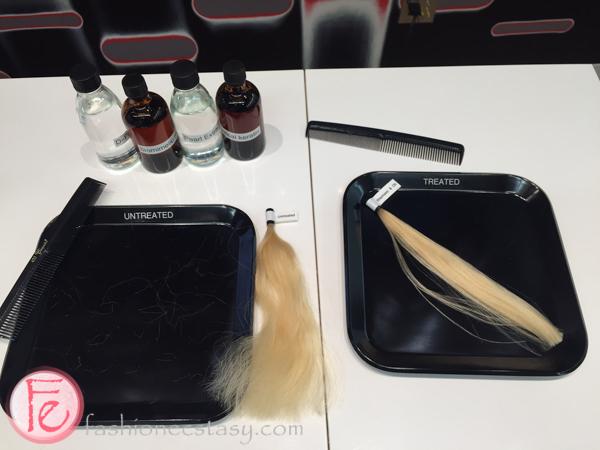 Schwarzkopf essence ULTIME untreated hair vs treated hair