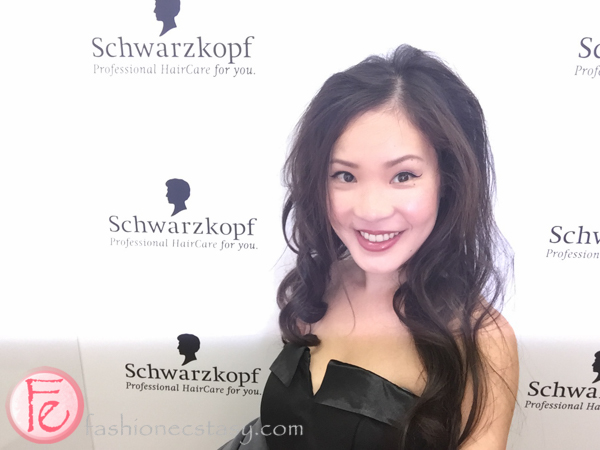 hairstyle created with Schwarzkopf ULTIME Biotin+ Volume products