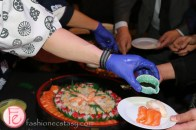 serving sushi at glitter in macau 2016 sickkids foundation