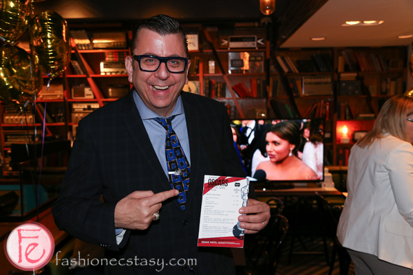 Richard Crouse oscars party with google canada at the drake hotel