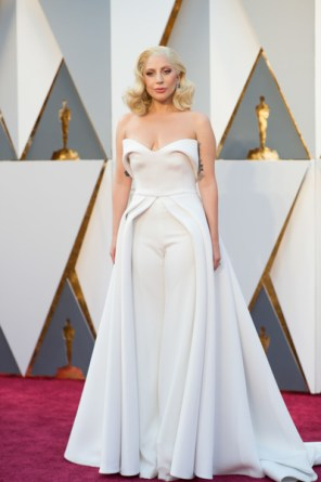 lady gaga 2016 oscars red carpet