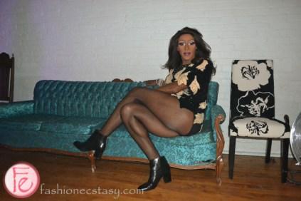 Tynomi Banks dressed up disco canfar