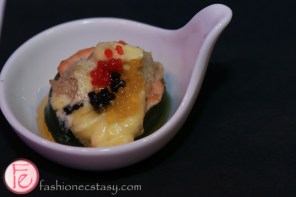 salmon mousse topped with caviar