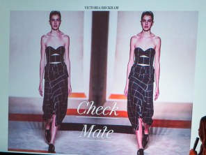 victoria beckham checkered look
