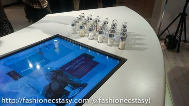 COTY fῡme scent lounge Customize/personalize Luxury Fragrances Hudson's Bay Yorkdale