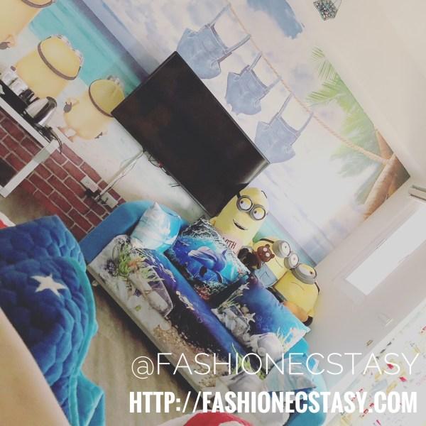 Minion-themed hotel room hua lian