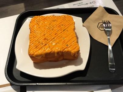 caffe bene 厚片土司特調起士醬料 (cheese toast)
