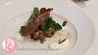 Lamb Tartare and Lamb Quartet by Chef Jonathan Lapierre-Rehayem
