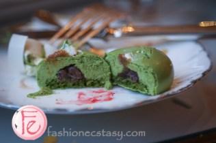 台北文華東方鯖青隅: 抹茶紅豆蛋糕 (Matcha-Red Bean Cake)