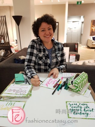 Calligraphy at The Hudson's Bay House Party