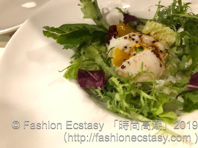 """「溫泉蛋芒果油醋沙拉」/salad: """"JP Soft boiled egg mango vinegar salad"""":"""