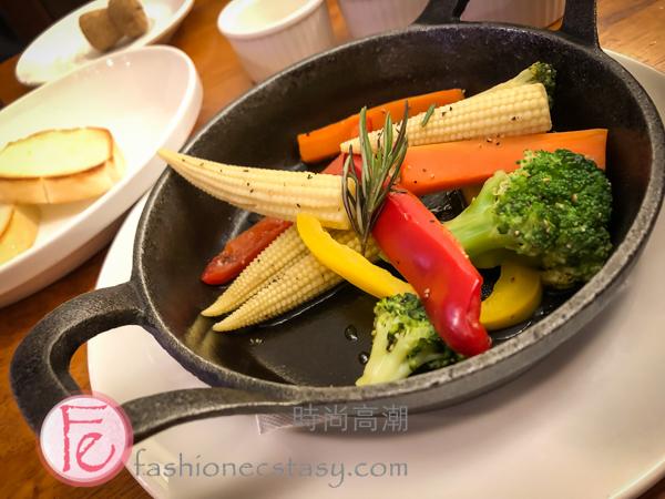 """溫沙拉」($160) / """"warm salad"""" ($160nt)"""