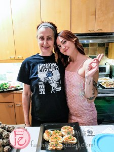 cruelty-free hors d'oeuvres from Animal Liberation Kitchen at Art for Animals Fundraiser event 2019 in support of Mercy For Animals