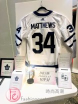 Auston Matthews' hockey jersey fashion runway