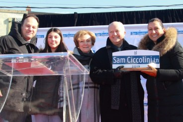Unveiling Ceremony of Sam Ciccolini Laneway : 多倫多Sam Ciccolini Laneway巷道揭幕儀式
