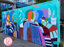 Jacquelin Comrie's mural at Yorkville Murals 2020