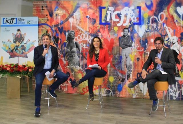 Paul Golini (ICFF Chairman) ,Mara Cataldi ((ICFF Director of Operations) and Cristiano de Florentiis (ICFF Artistic Director)
