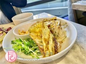 """「手作天閣風味蔥抓餅生菜佐起士鮪魚卷」/ """"Cheese Tuna Green Onion Cake"""""""
