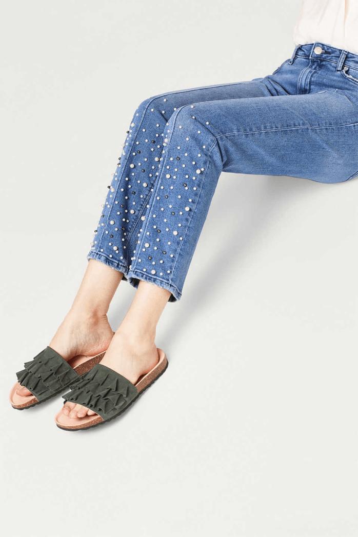 jeans met parels