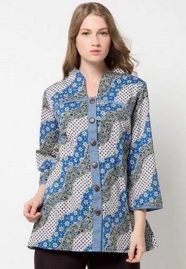 150 Model Baju Batik Wanita Modern Terbaru 2019