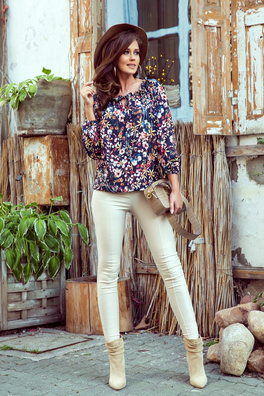 floral print blouse big -