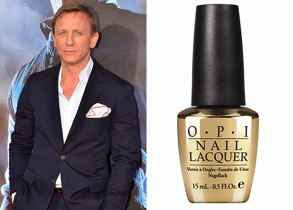 daniel craig skyfall james bond opi nail polish the man with the golden gun