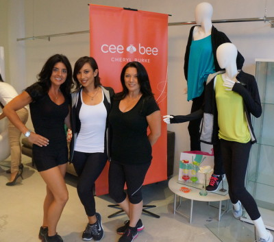 Christie with Cheryl Burke of dancing with the stars.