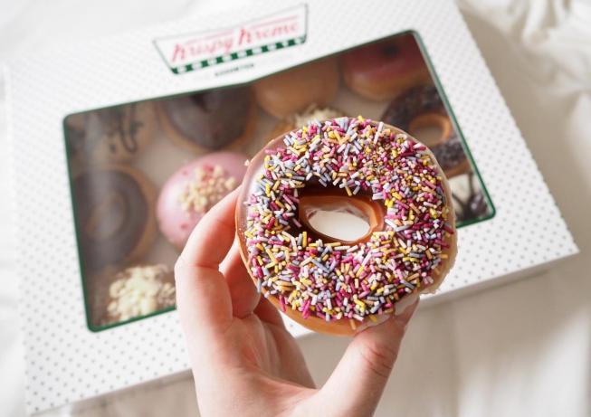 krispy kreme doughnuts friends of krispy kremes get a free doughnut