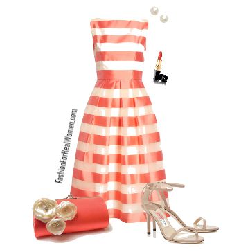 Wedding guest dress Striped Silk Organza