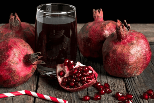 Healthy pomegranate juice