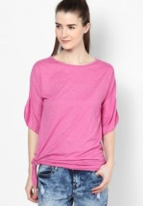 Tshirt-Company-Women-Easy-Care-Soft-Feel-Pink-Thistle-Side-Knot-Tee-7597-3670521-1-product2