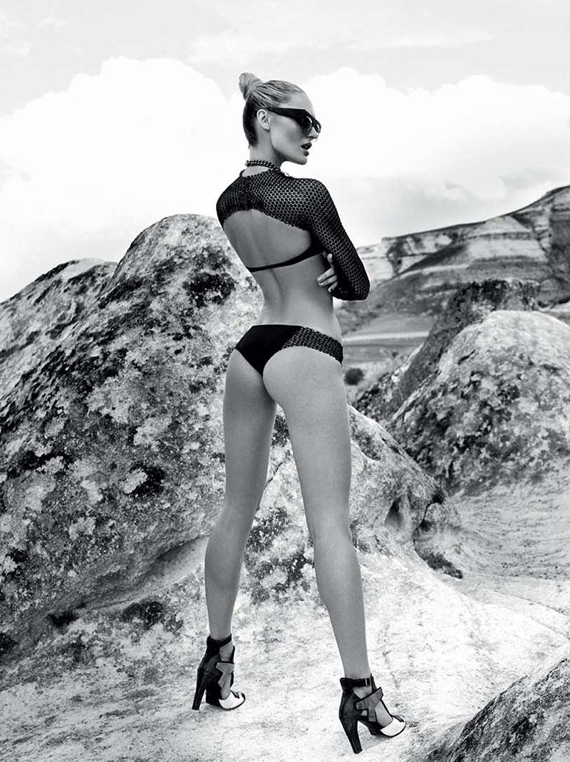 CandiceElle10 Candice Swanepoel принимает на спортивном стиле Glam для Elle Бразилии