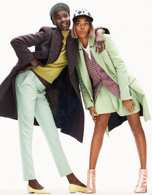 elle burstall2 Ataui Deng and Marihenny Rivera Don Vivid Style for Elle France by Simon Burstall