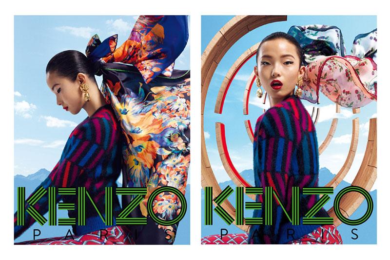 kenzo1 Xiao Wen Stars in Kenzo Accessories Fall/Winter 2012 Campaign by Frederik Heyman