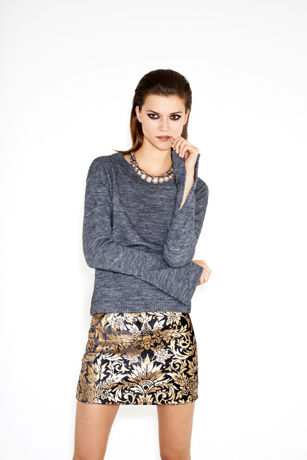 KasiaZara9 Kasia Struss is Party Ready for Zaras Twelve Holiday 2012 Lookbook