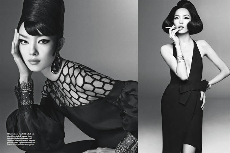 FeiFeiVogue4 Fei Fei Sun Wows for Vogue Italias January Issue by Steven Meisel
