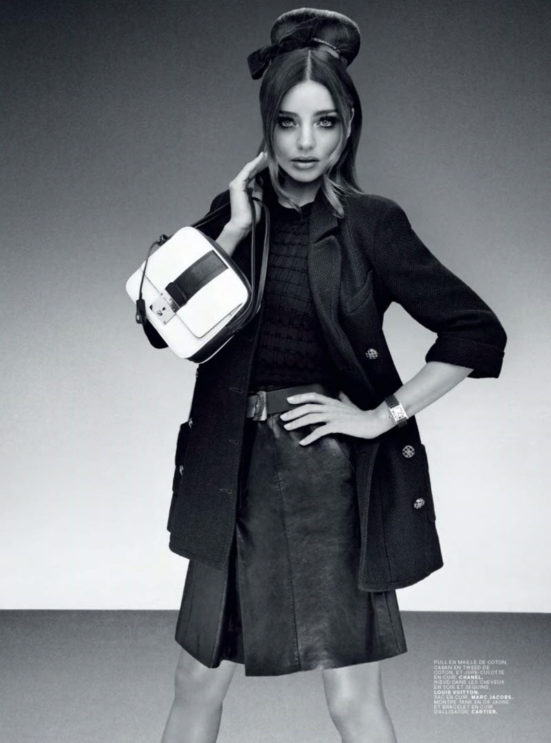 MirandaJalouse10 Miranda Kerr is Retro Glam for the February Cover Shoot of Jalouse