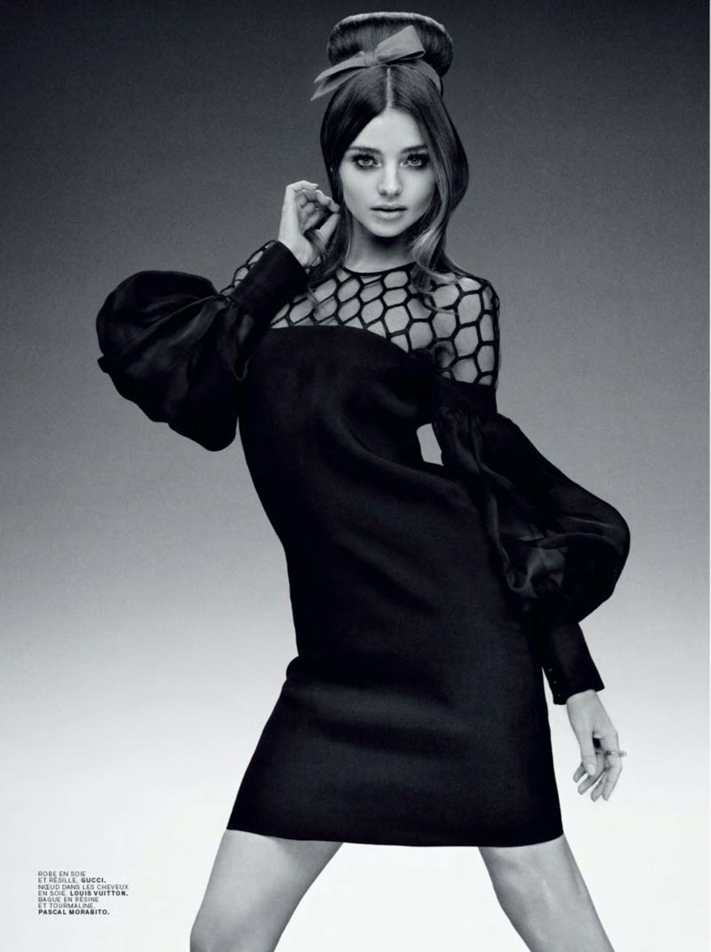 MirandaJalouse5 Miranda Kerr is Retro Glam for the February Cover Shoot of Jalouse