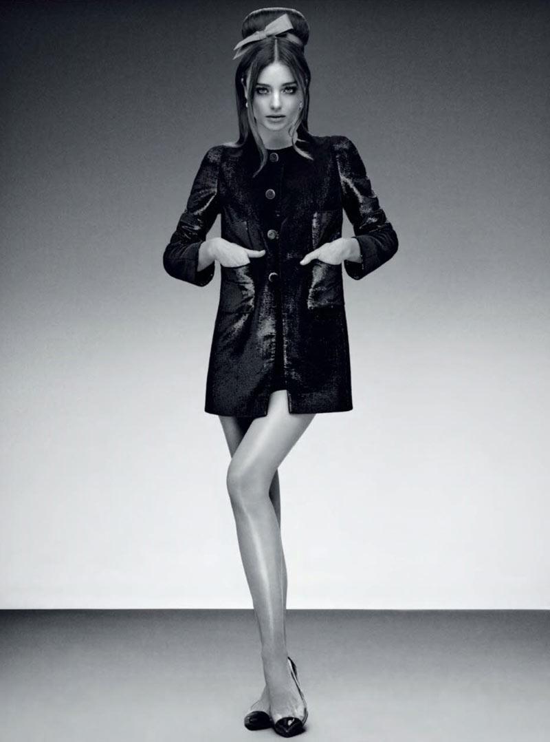 MirandaJalouse7 Miranda Kerr is Retro Glam for the February Cover Shoot of Jalouse