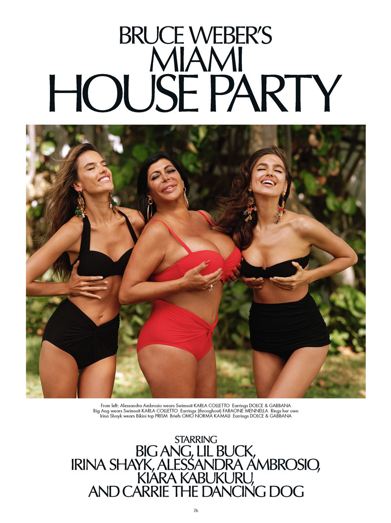 cr magazine bruce weber1 Alessandra Ambrosio and Irina Shayk Head to Miami with Bruce Weber for CR Fashion Book
