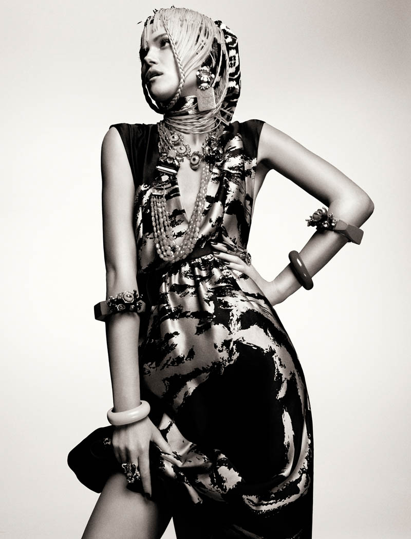 KasiaStrussNumeroGregKadel6 Kasia Struss Dons a Fashion Mix for Numéro #142 by Greg Kadel