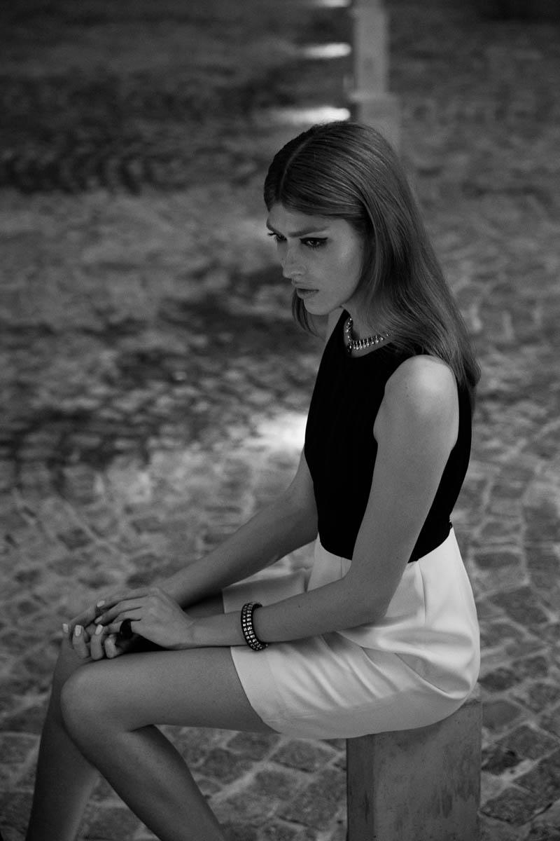 Dafne cejas8 Dafne Cejas från Josefina Bietti i svartvitt för Fashion Gone Rogue