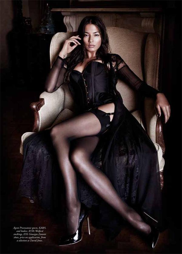 jessica gomes lingerie4 Jessica Gomes Seduces in Agent Provocateur for Harpers Bazaar Australia by Simon Lekias
