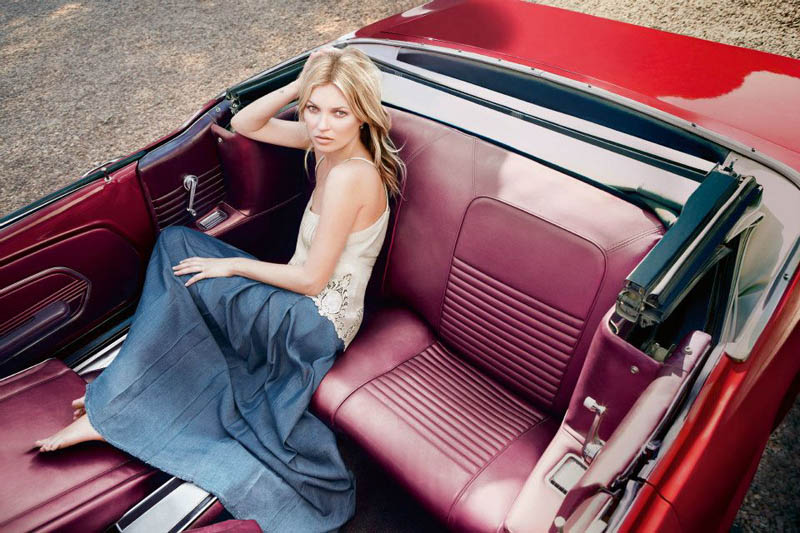 kate moss liu jo3 Kate Moss Fronts Liu Jos Spring 2013 Campaign