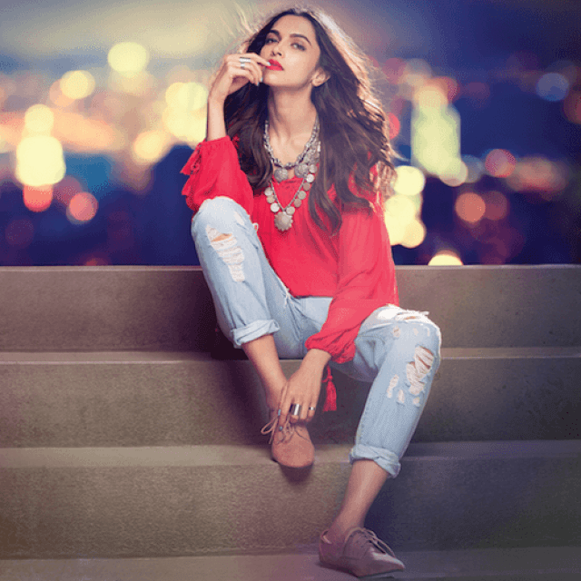 Deepika red outfit