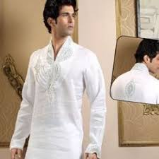 Embroidered High Neck Kurta Pajama