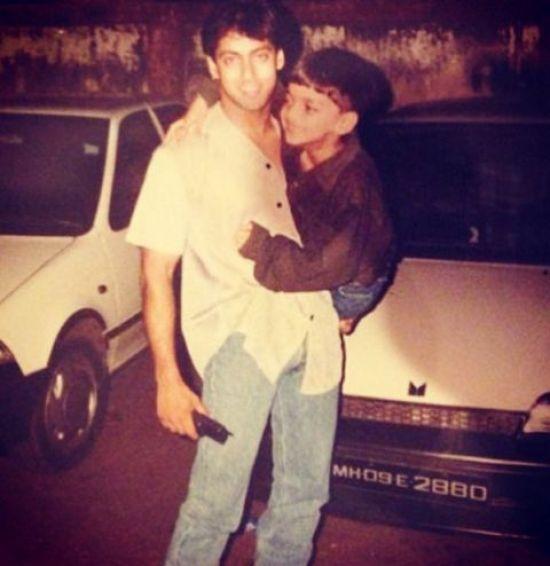 Salman Khan Mid 1980s hairstyle