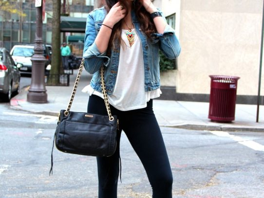Stalk My Style: Denim Jacket & Moto Boots
