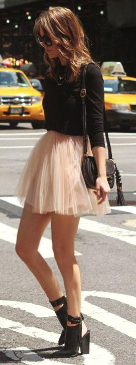 Tulle skirt trend